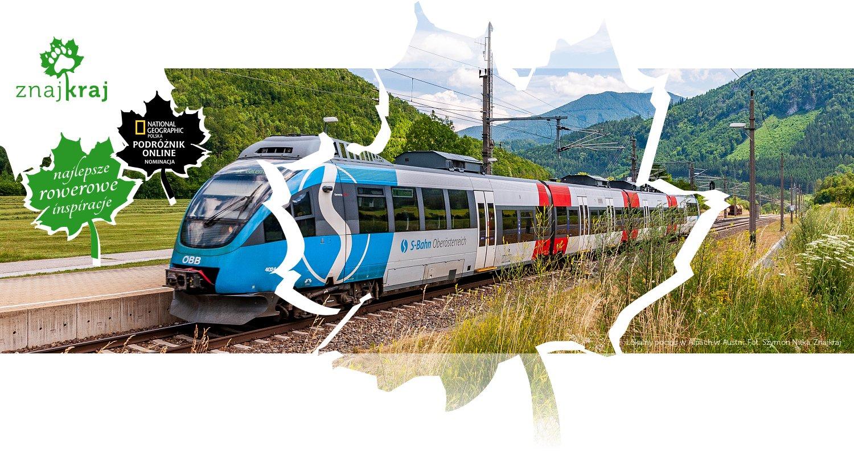 Lokalny pociąg w Alpach w Austrii