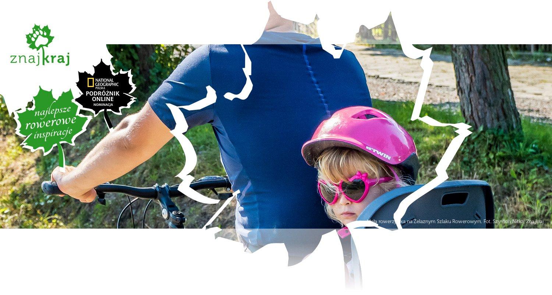 Mała rowerzystka na Żelaznym Szlaku Rowerowym