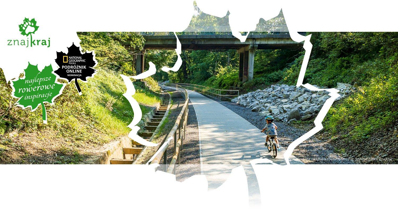 Mały rowerzysta na szlaku rowerowym