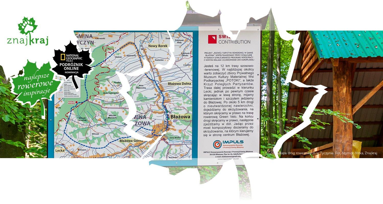 Mapa dróg rowerowych w Tyczynie
