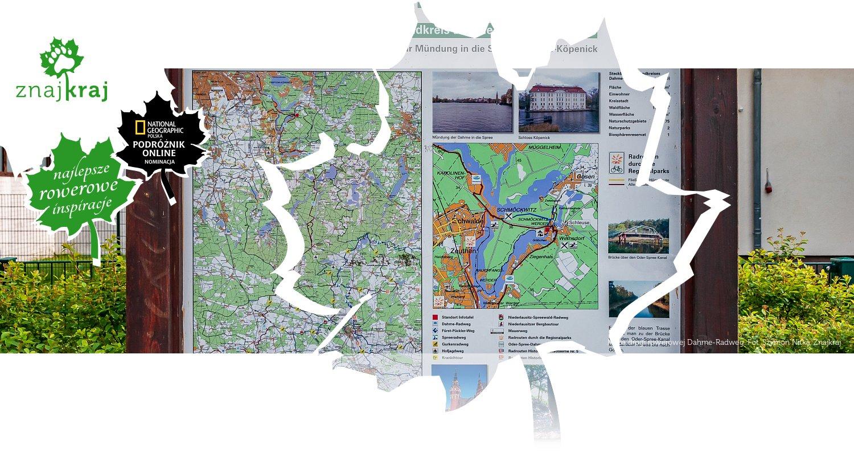 Mapa drogi rowerowej Dahme-Radweg