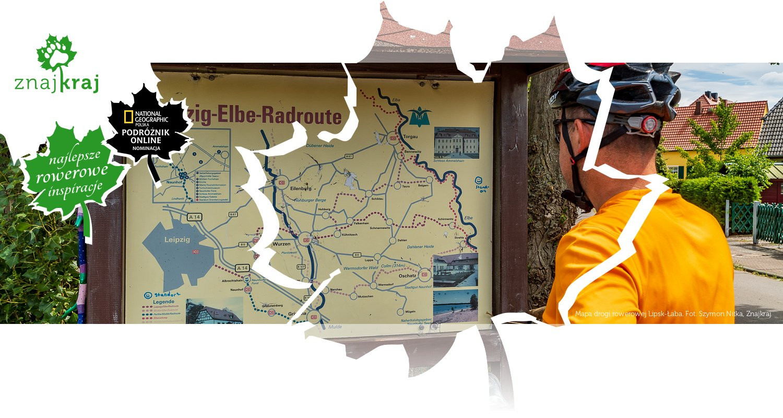 Mapa drogi rowerowej Lipsk-Łaba