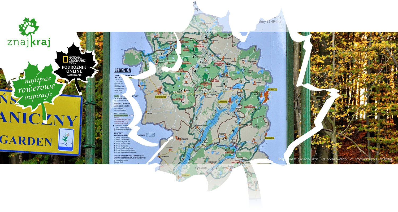 Mapa Kaszubskiego Parku Krajobrazowego