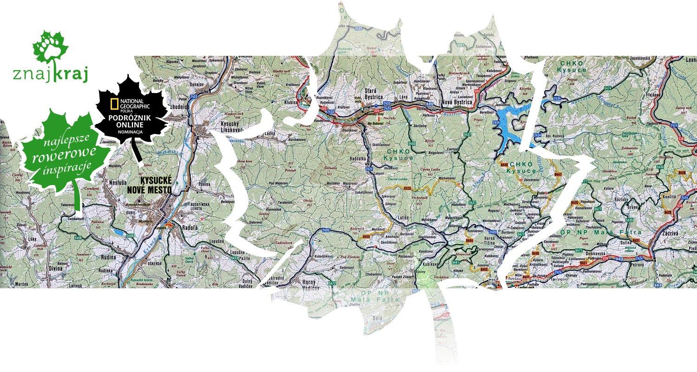 Mapa rowerowa regionu Mała Fatra - Kisuce