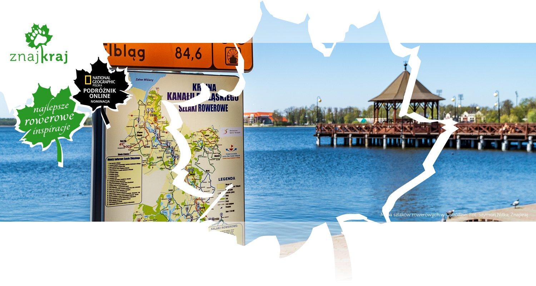 Mapa szlaków rowerowych w Ostródzie