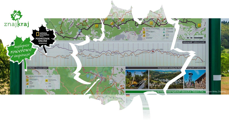 Mapa szlaków rowerowych w Rudawach w Saksonii