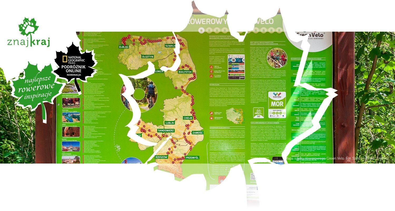 Mapa szlaku rowerowego Green Velo