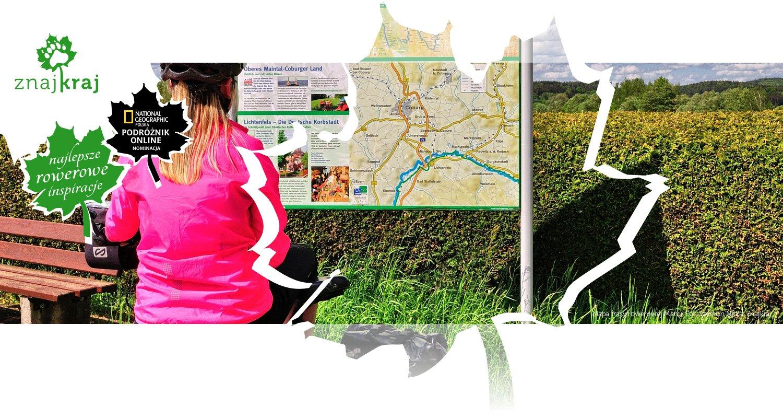 Mapa trasy rowerowej Menu