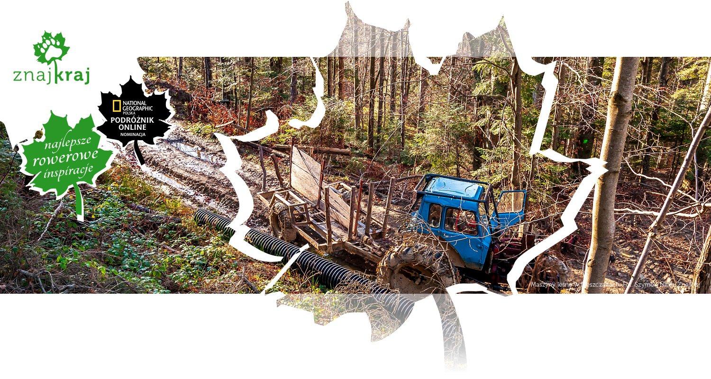 Maszyny leśne w Bieszczadach