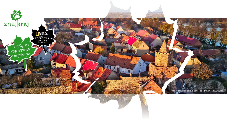 Miasto Trzcińsko-Zdrój z góry