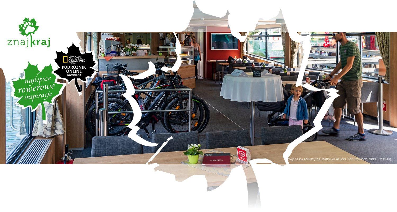 Miejsce na rowery na statku w Austrii
