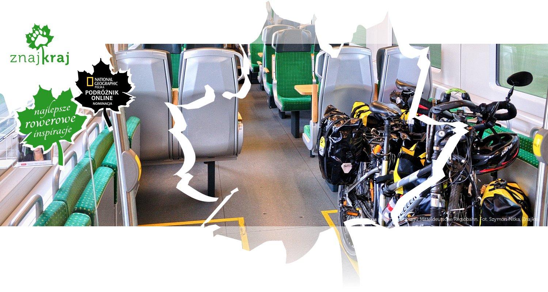 Miejsce na rowery w pociągu Mitteldeutsche Regiobahn