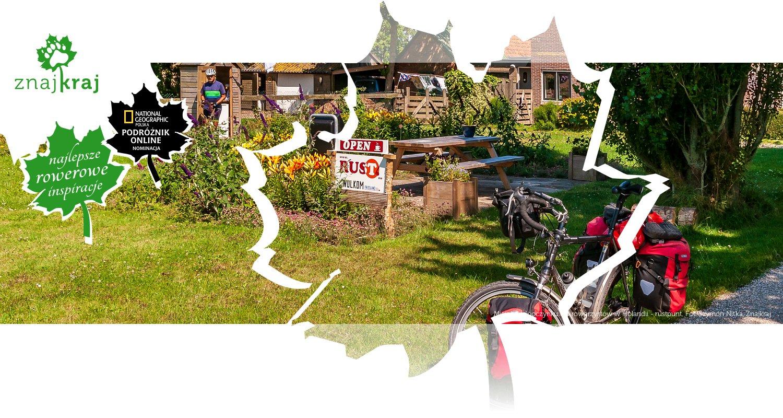 Miejsce odpoczynku dla rowerzystów w Holandii - rustpunt