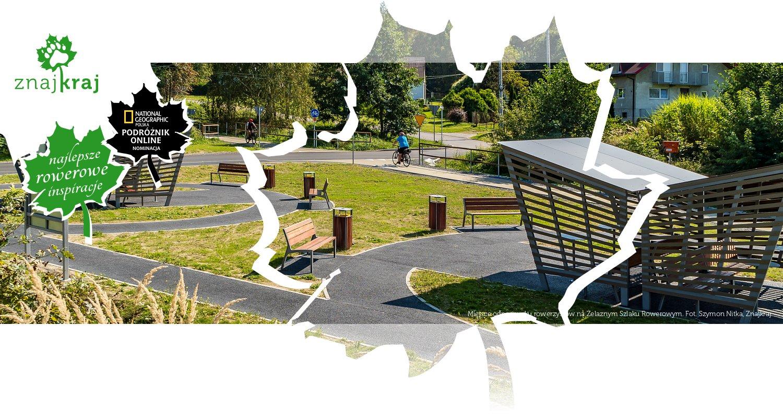 Miejsce odpoczynku rowerzystów na Żelaznym Szlaku Rowerowym
