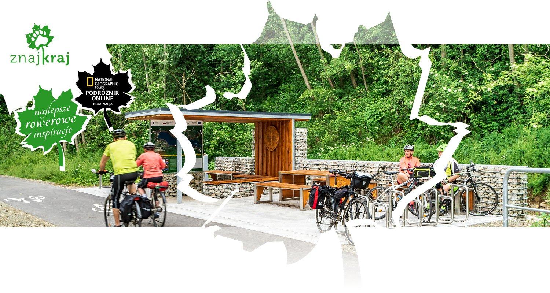 Miejsce odpoczynku rowerzystów w Małopolsce nad Jeziorem Czorsztyńskim