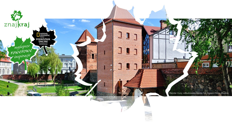 Miejskie mury, odbudowana baszta