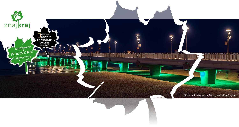 Molo w Kołobrzegu nocą