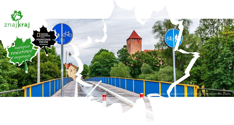 Most pieszo-rowerowy pod zamkiem w Oświęcimiu