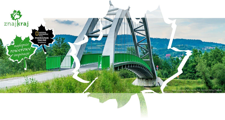 Most rowerowy koło Łącka