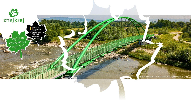 Most rowerowy na szlaku EuroVelo 11 w Małopolsce