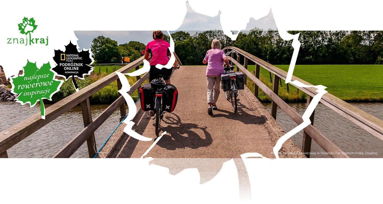 Mostek na drodze rowerowej w Holandii