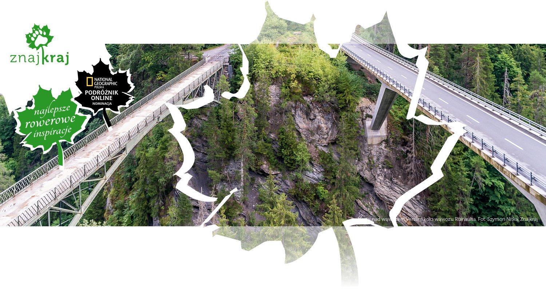 Mosty nad wąwozem Versam koło wąwozu Ruinaulta
