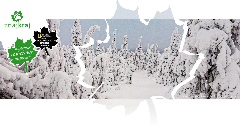 Mroźny fiński szlak narciarski