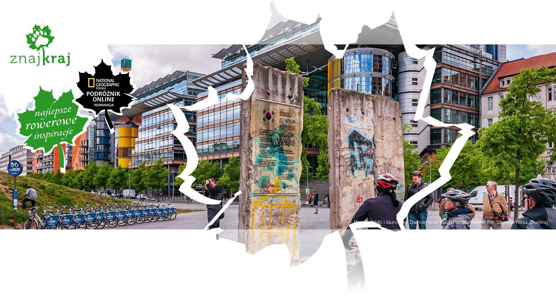Mur Berliński i biurowiec Daimler przy Placu Poczdamskim