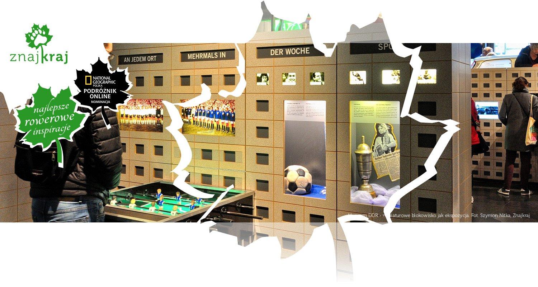 Muzeum DDR - miniaturowe blokowisko jak ekspozycja