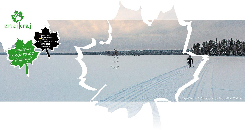 Na biegówkach po fińskim jeziorze