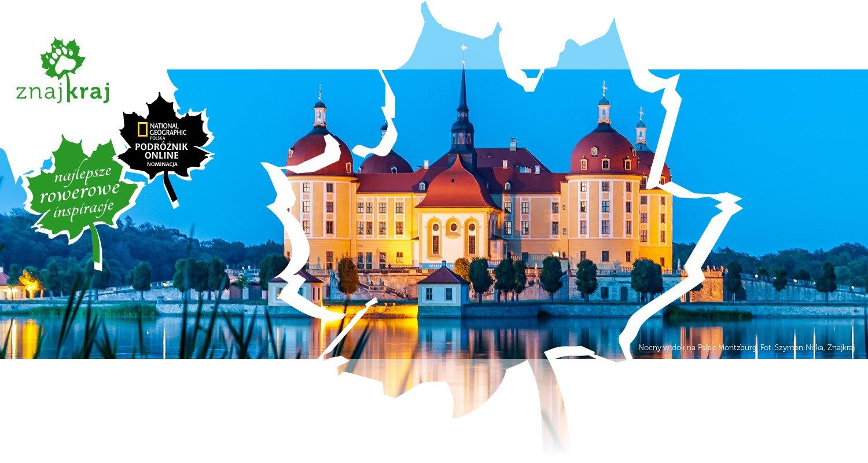 Nocny widok na Pałac Moritzburg