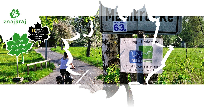 Objazd na trasie rowerowej Menu