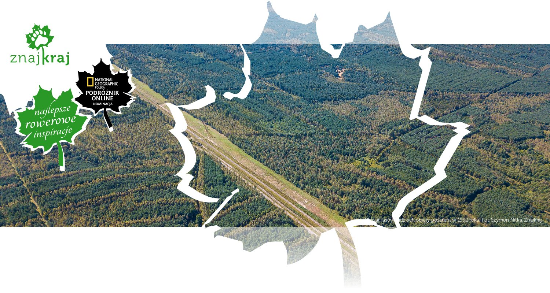 Obszar lasów rudzkich objęty pożarem w 1992 roku
