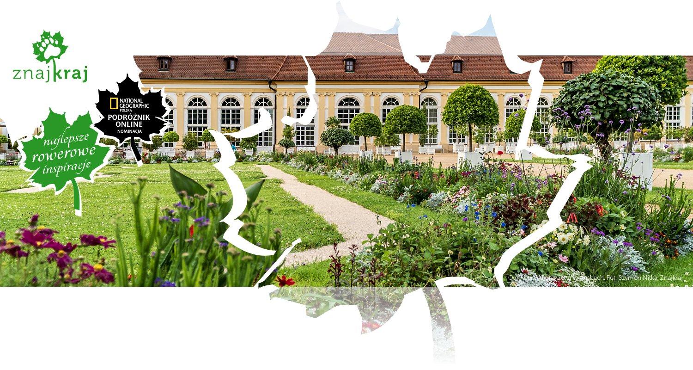 Ogród przed oranżerią w Ansbach