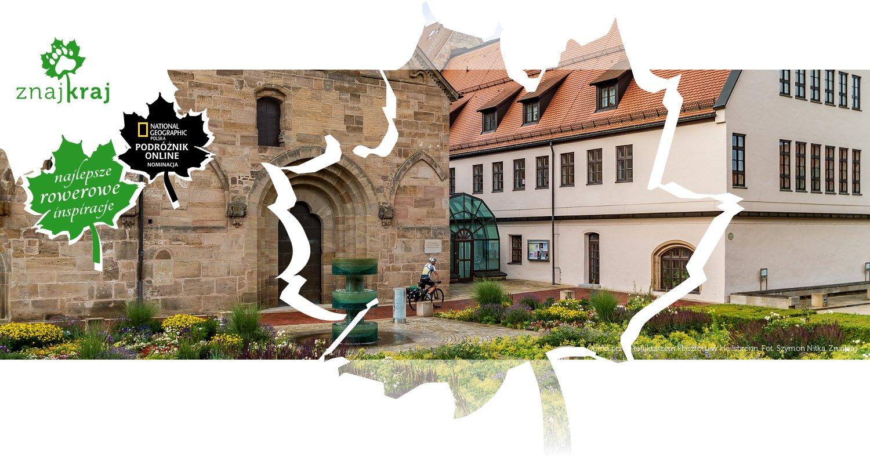 Ogród przed refektarzem klasztoru w Heilsbronn