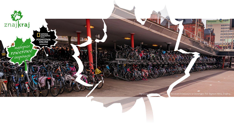 Ogromny parking rowerowy pod dworcem kolejowym w Groningen