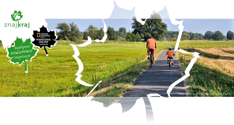 Ojciec z synem na rowerze