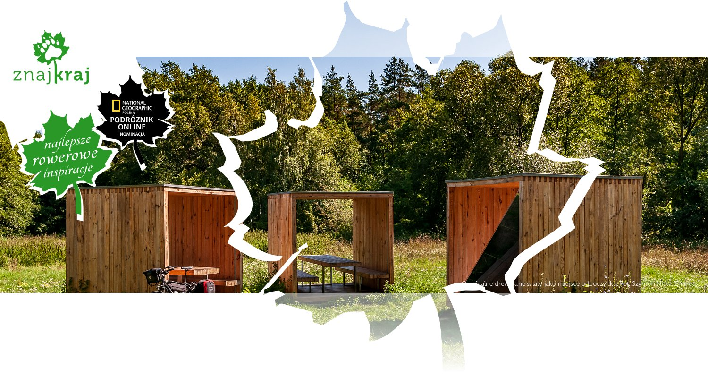 Oryginalne drewniane wiaty jako miejsce odpoczynku