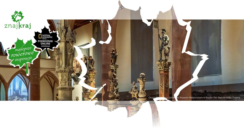 Oryginalne rzeźby z fontann w Muzeum Historycznym w Bazylei