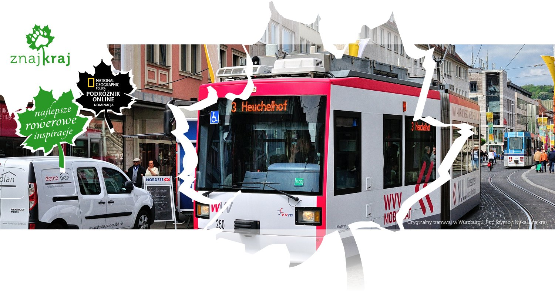 Oryginalny tramwaj w Würzburgu