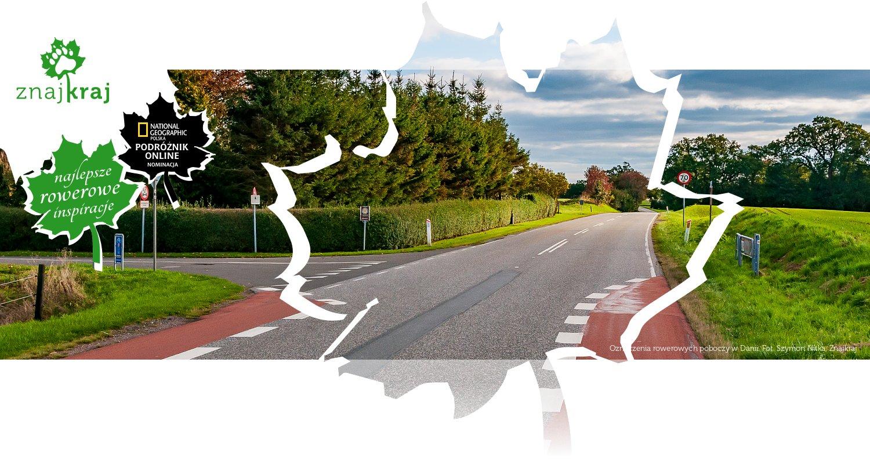Oznaczenia rowerowych poboczy w Danii