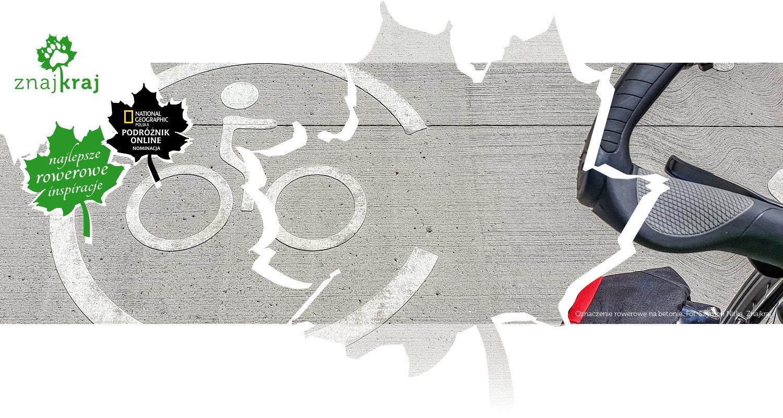 Oznaczenie rowerowe na betonie