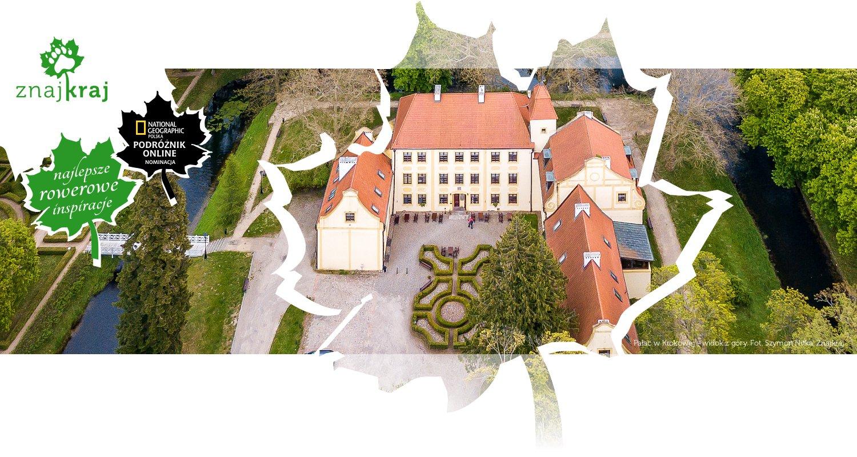 Pałac w Krokowej - widok z góry