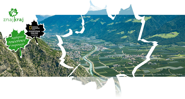 Panorama doliny Adygi w Południowym Tyrolu