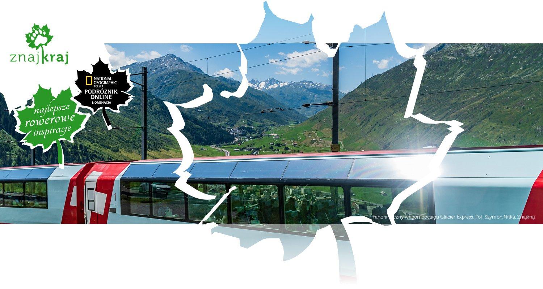 Panoramiczny wagon pociągu Glacier Express