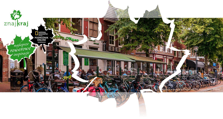 Parking rowerowy przed restauracją