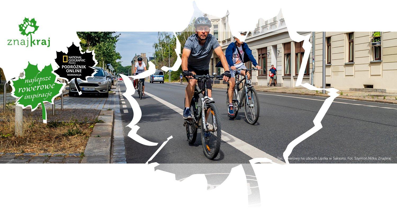 Pas rowerowy na ulicach Lipska w Saksonii