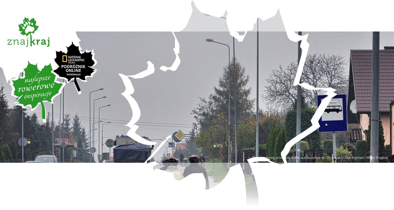 Pas rowerowy przez zatoczkę autobusową w Chojnicach