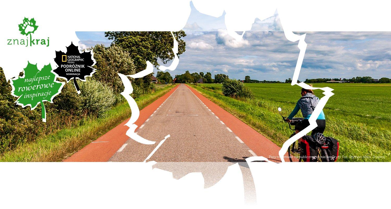 Pasy rowerowe na publicznej szosie we Fryzji