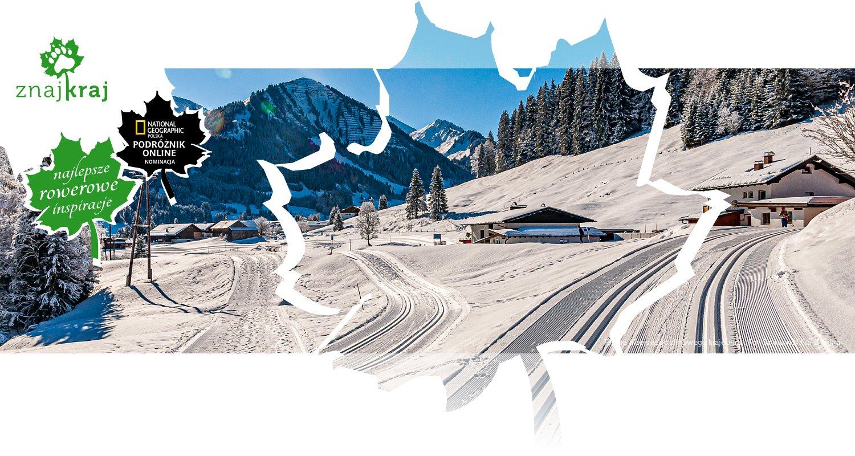 Piękno alpejskiego zimowego krajobrazu